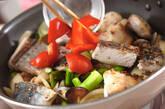 魚介とアスパラの塩炒めの作り方9