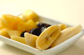バナナパフェの下準備1