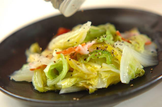 ベーコンと白菜の塩バター蒸しの作り方の手順4