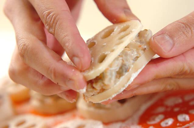 梅風味レンコンのはさみ揚げの作り方の手順8