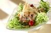 豚とレタスのしゃぶサラダの作り方の手順