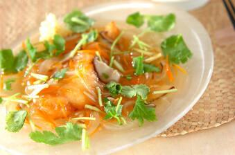 サクサク白身魚の野菜たっぷりあんかけ