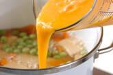 エンドウ豆の卵とじの作り方5