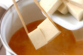 エンドウ豆の卵とじの作り方4