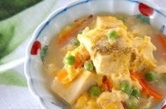 エンドウ豆の卵とじ