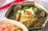 アサリと豆腐の酒蒸し