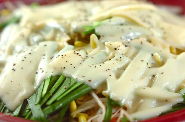 モヤシチーズ鍋の作り方の手順4