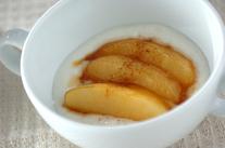 炒めリンゴヨーグルト