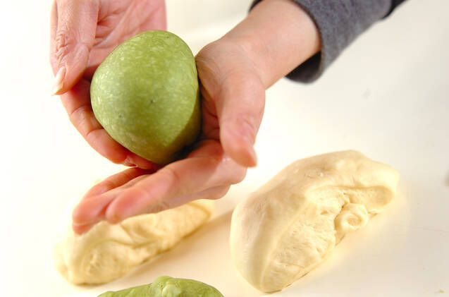 抹茶のうずまきパンの作り方の手順11