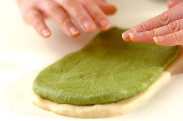 抹茶のうずまきパンの作り方の手順12