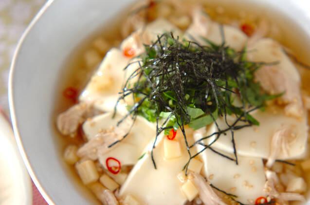 豆腐のスープ丼