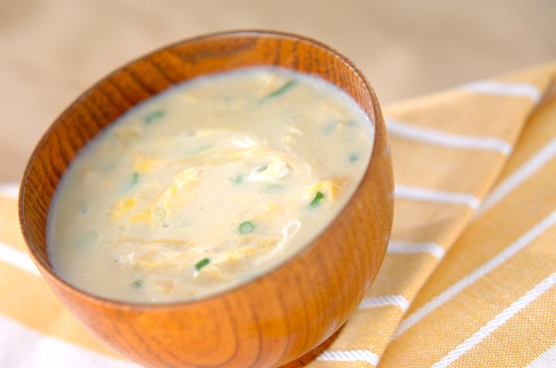 3. かきたま豆乳スープ