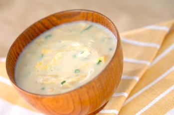 かきたま豆乳スープ
