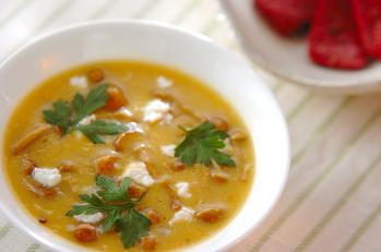 ナメコのコーンスープ