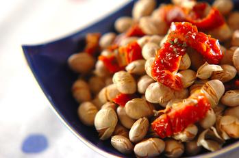 トマトとバジルのおつまみ大豆