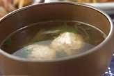 鶏だんごスープ