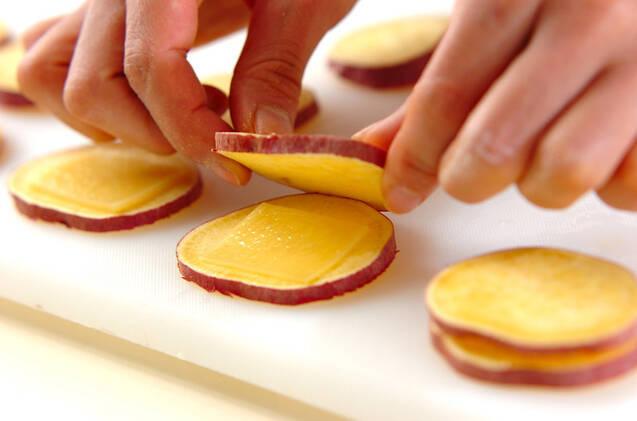 サツマイモのチーズサンドフライの作り方の手順3