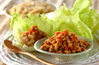 高野豆腐みその玄米レタス包み