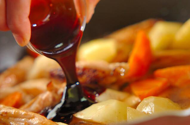 手羽中のオイスター炒め煮の作り方の手順7