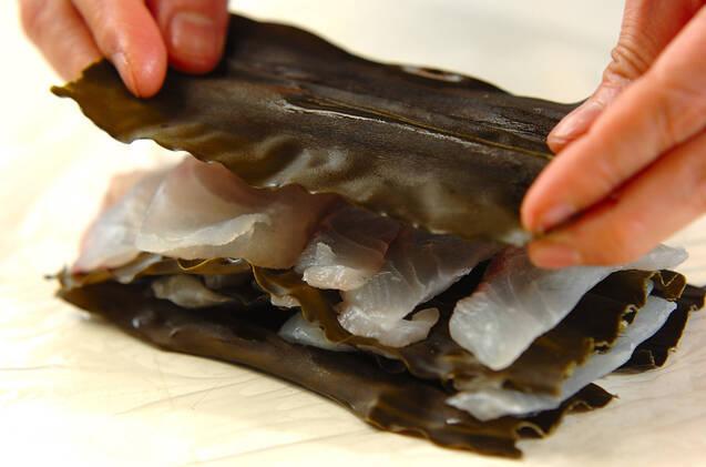 鯛の昆布じめの作り方の手順1