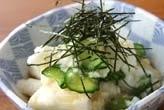 たたき長芋の甘酢和え