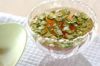 オクラのジンジャー冷スープ