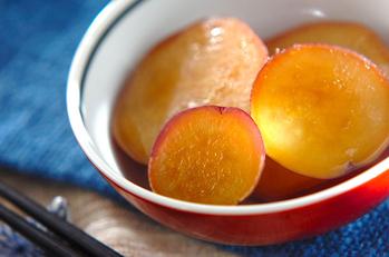 サツマイモのハニージンジャー煮