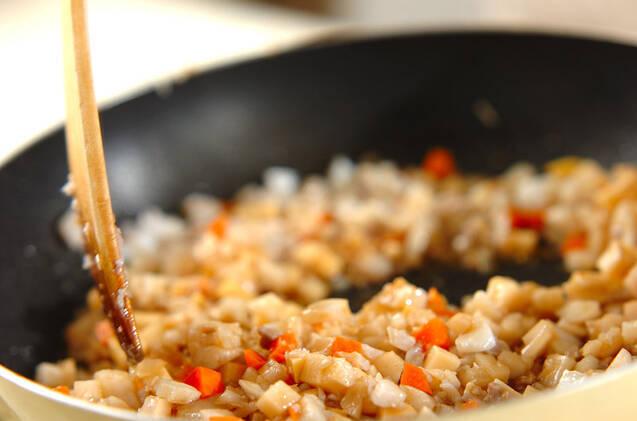 ゴマタラそぼろ丼の作り方の手順5