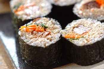 クルミ豆腐巻き寿司