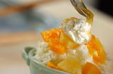 オレンジヨーグルトの台湾風かき氷の作り方4