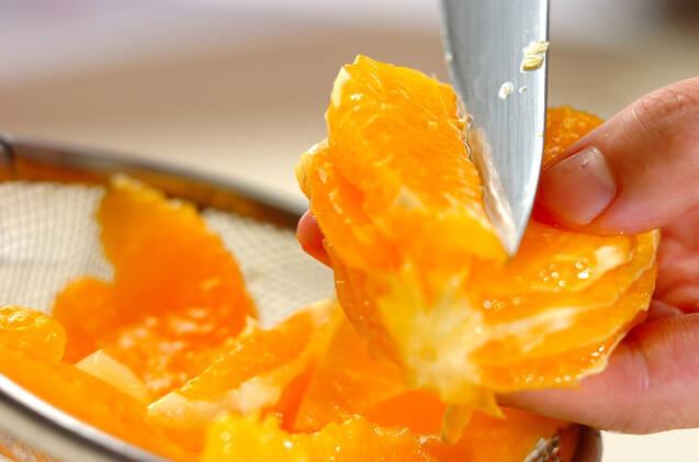 オレンジヨーグルトの台湾風かき氷の作り方の手順1