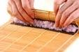 梅巻き寿司の作り方3