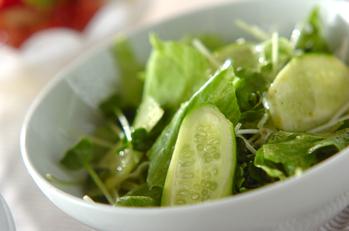 シンプルレタスサラダ