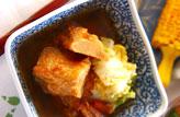 揚げ天と白菜の煮物