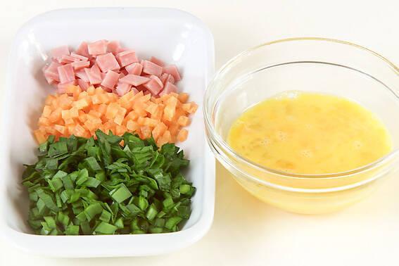 ニラタマ焼きの作り方の手順1