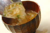 モヤシと玉ネギのみそ汁の作り方5
