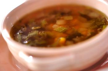 ピーマンとコーンのスープ