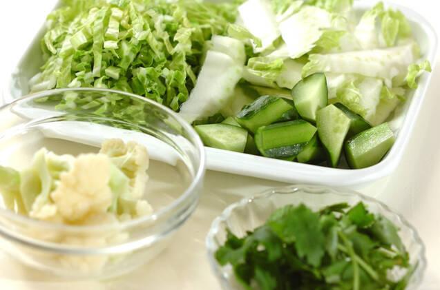 白菜のサラダの作り方の手順1
