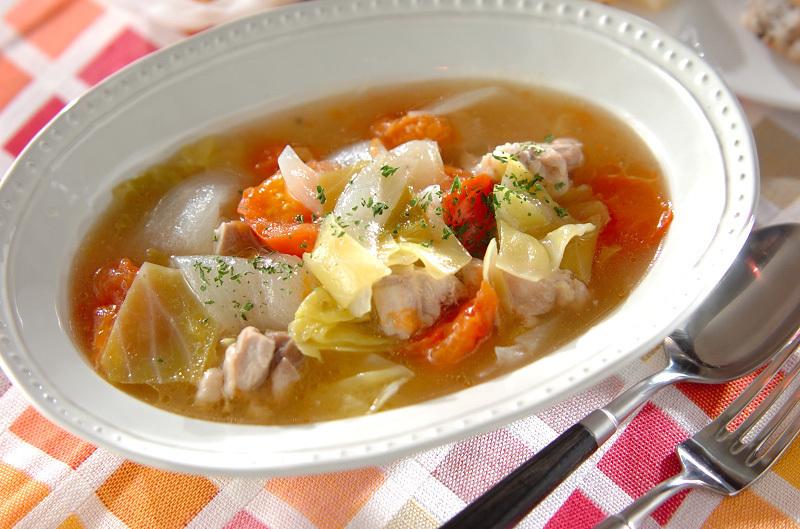 2.鶏もも肉とトマトのスープ煮