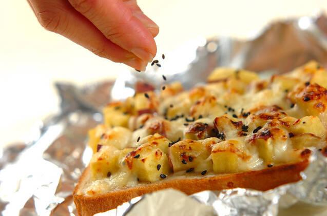 サツマイモのダブルチーズトーストの作り方の手順5