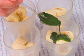 抹茶がけ凍りバナナの作り方1