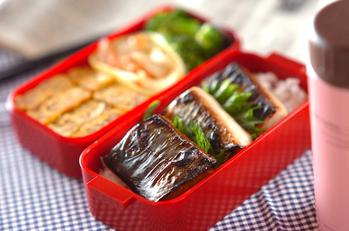前日準備で朝ラク魚の照り焼き弁当