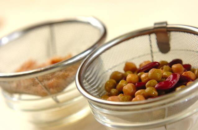 ツナと豆のココナッツカレーの作り方の手順1