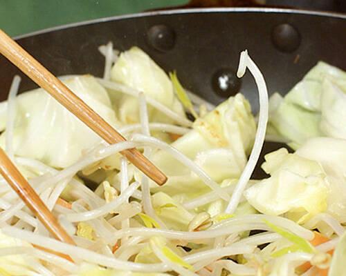 シンプル野菜炒めの作り方の手順2