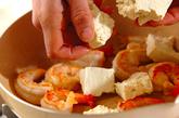 エビと豆腐のオイスターソース炒めの作り方2