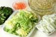野菜炒めのサラダの下準備1