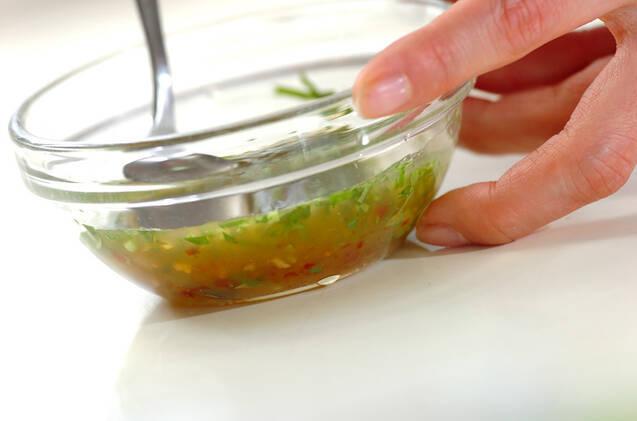 タコのホットサラダの作り方の手順2