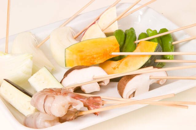 食卓で串揚げの作り方の手順4