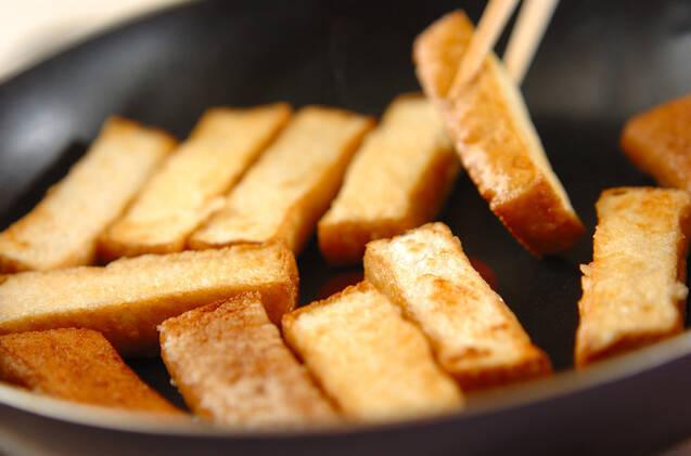 厚揚げの蒲焼き丼の作り方の手順2