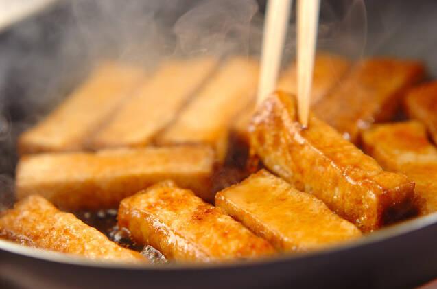 厚揚げの蒲焼き丼の作り方の手順3